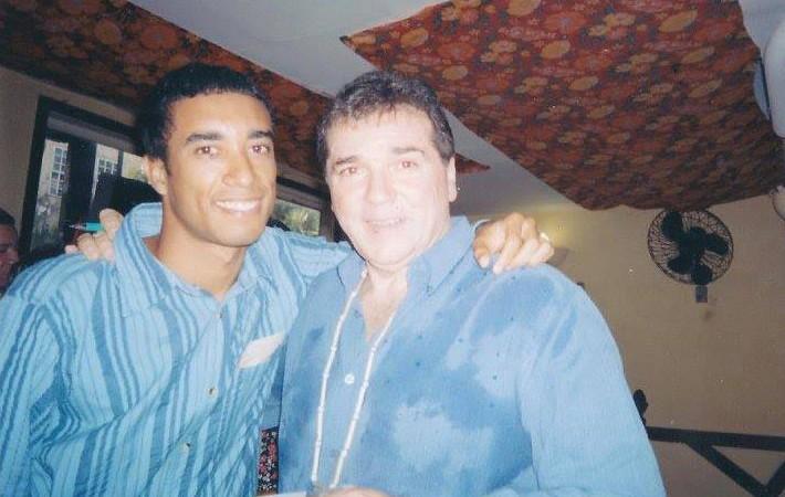Jerry com Marilson, no Pelourinho em 2005